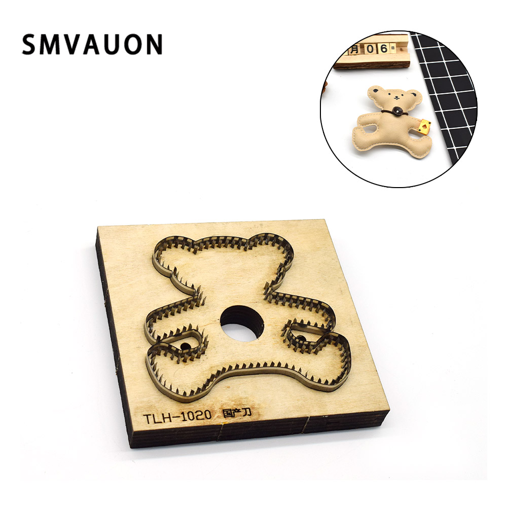 SMVAUON cute little bear Cartoon pendant wood mold cutting fashion leather steel mold suitable for die cutting machines