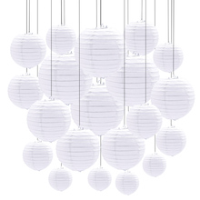 Paper-Lantern Wedding-Decoration Lampion Halloween Birthday Chinese White Round Party