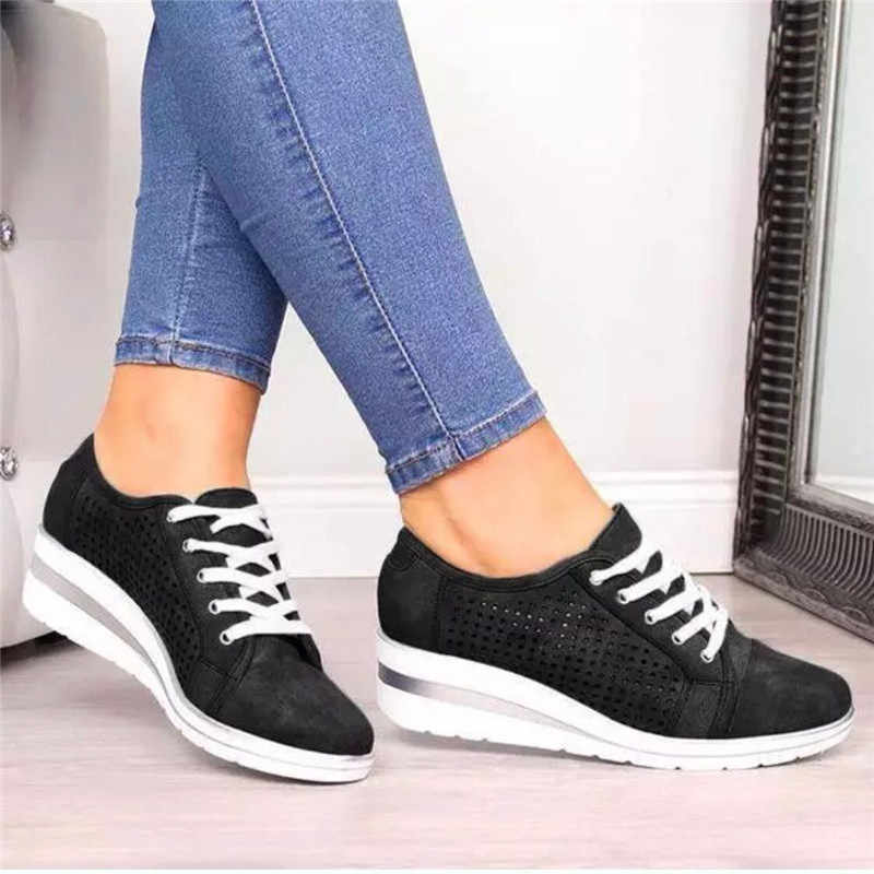 Kadın Flats ayakkabı kadın sonbahar içi boş nefes örgü rahat ayakkabılar bayanlar daireler üzerinde kayma loafer ayakkabılar plaj takozlar ayakkabı