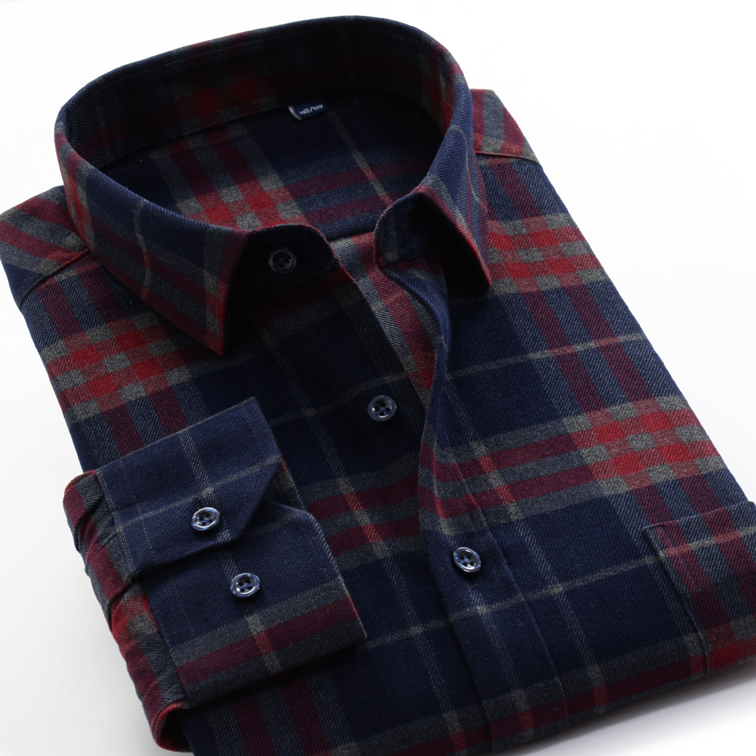 Image 2 - Mens Thick Plaid Shirt 2019 New Classic Style Fashion Casual  Loose Long Sleeved Sanded Shirt Male Large Size 7XL 8XL 9XL 10XLCasual  Shirts
