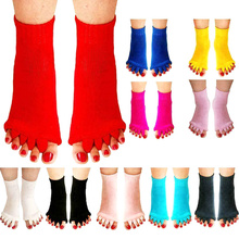 1Pair Massage Five Toe Socks Fingers Separator For Toes Foot Alignment Pain Relief Woman Bunion Gel Guard Pedicure NEW
