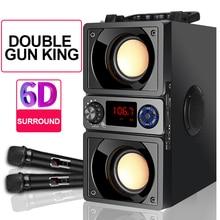 Bluetooth 5.0 Mới Loa Siêu Trầm Loa Di Động Ngoài Trời Bass 6D Vòm Stereo Loa Máy Tính Hỗ Trợ Đài FM TF AUX MP3