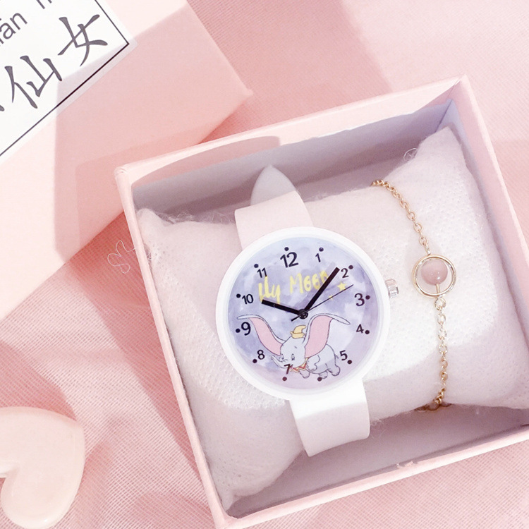 Children Fashion Watch Cute Colorful Creative Elephant Cartoon Dial Design Lovely Kids Watches Quartz Clock Gift