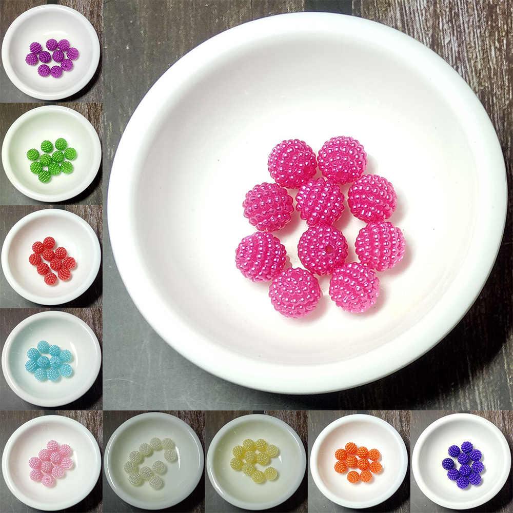 Bộ 10 miếng dán Acrylic Hạt Bayberry Hạt 10mm Vòng Rời Hạt Phù Hợp Với Châu Âu Hạt Trang Sức Làm DIY Phụ Kiện