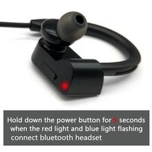Cuffie senza fili impermeabili cuffie Stereo Bluetooth nellorecchio auricolare Bluetooth lettore MP3 con microfono per iphone Android