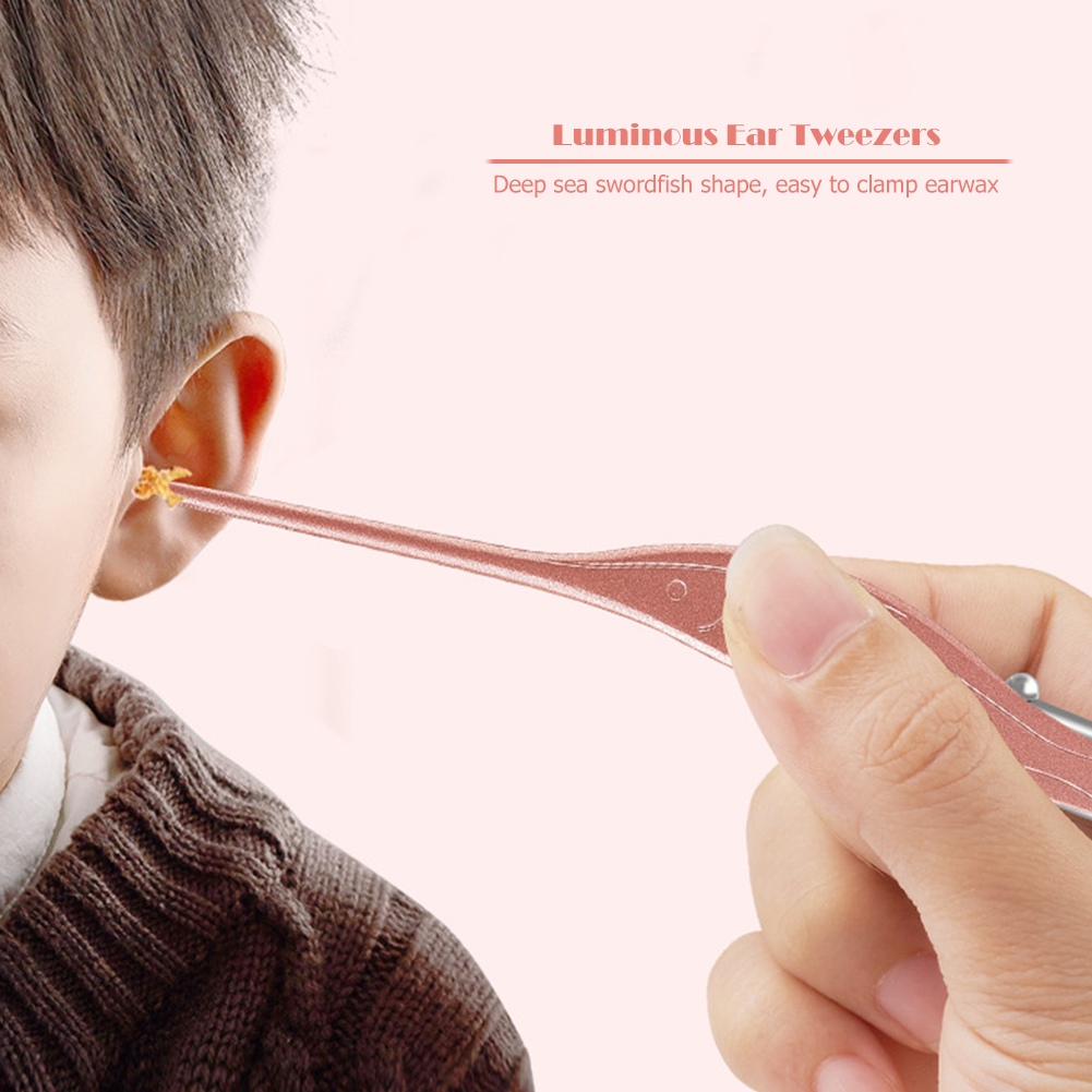 Earpick Ear Cleaning Earwax Remover Baby Nose Cleaning Tweezers Ear Cleaner Ear Nose Pick Navel Cleaner Earwax Tool