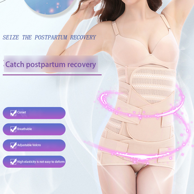3pcs Slimming Bandage Recovery Postpartum Belt Set Sweat Wicking Elastic Strap Belly Health Care Pelvis Abdomen Pregnancy Girdle 3