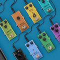Kmise Mini Electric Guitar Effect Pedal Delay/Overdrive/Crunch/Distortion/Vintage Phaser/Tremolo/Chorus DC 9V True Bypass