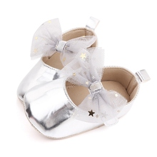 Baby Shoes Newborn Girls Breathable Mesh Bowknot Flats Princess Shoes Toddler Soft Soled First Walkers 0 18M