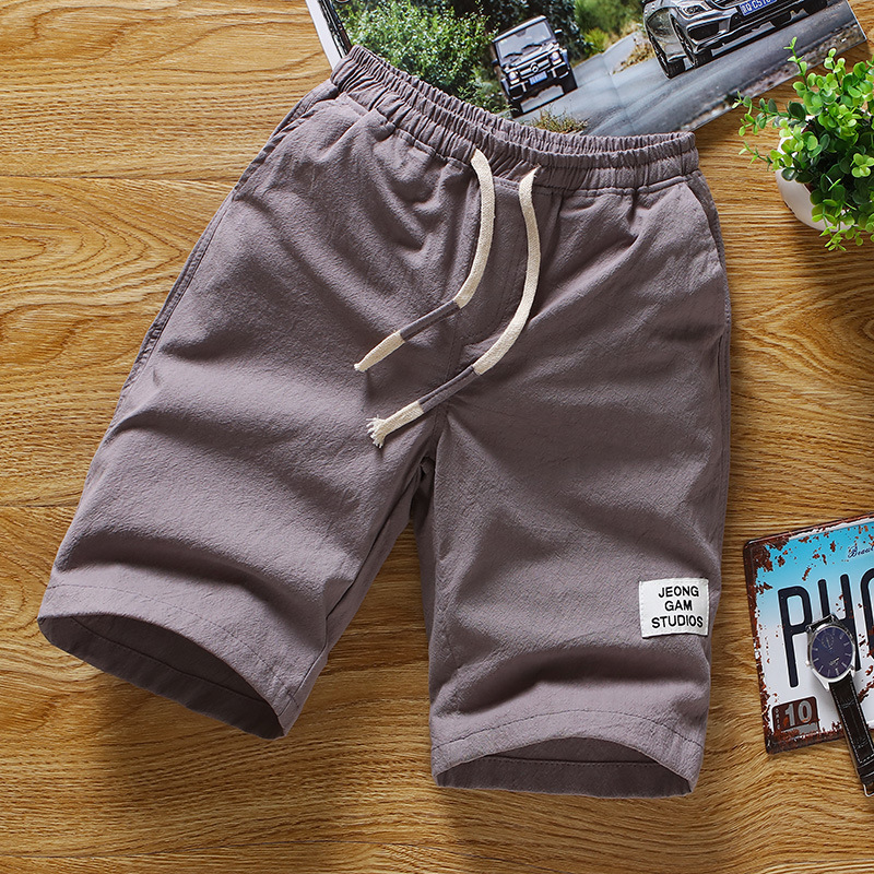2019 New Style Spring Clothing Men Casual Shorts Slim Fit Linen Shorts Men's Beach Pants
