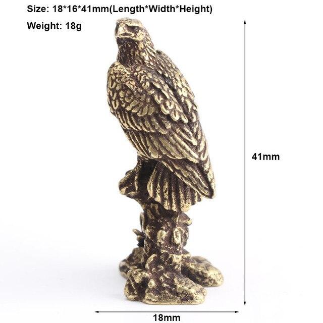 Handmade Brass Eagle Ornaments Accessories Vintage Pure Copper Bird Desk Decor Accessories Animal Home Decoration Mini Figurines 6