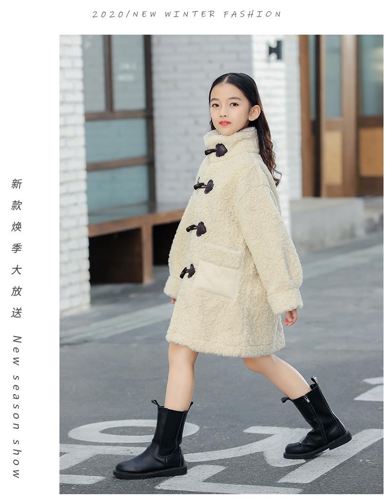 Mädchen Kaschmir Mantel 2020 Herbst Winter Neue Große Pelz Alle In One Windcoat Kinder Kleidung Jacke Jackets Coats Aliexpress