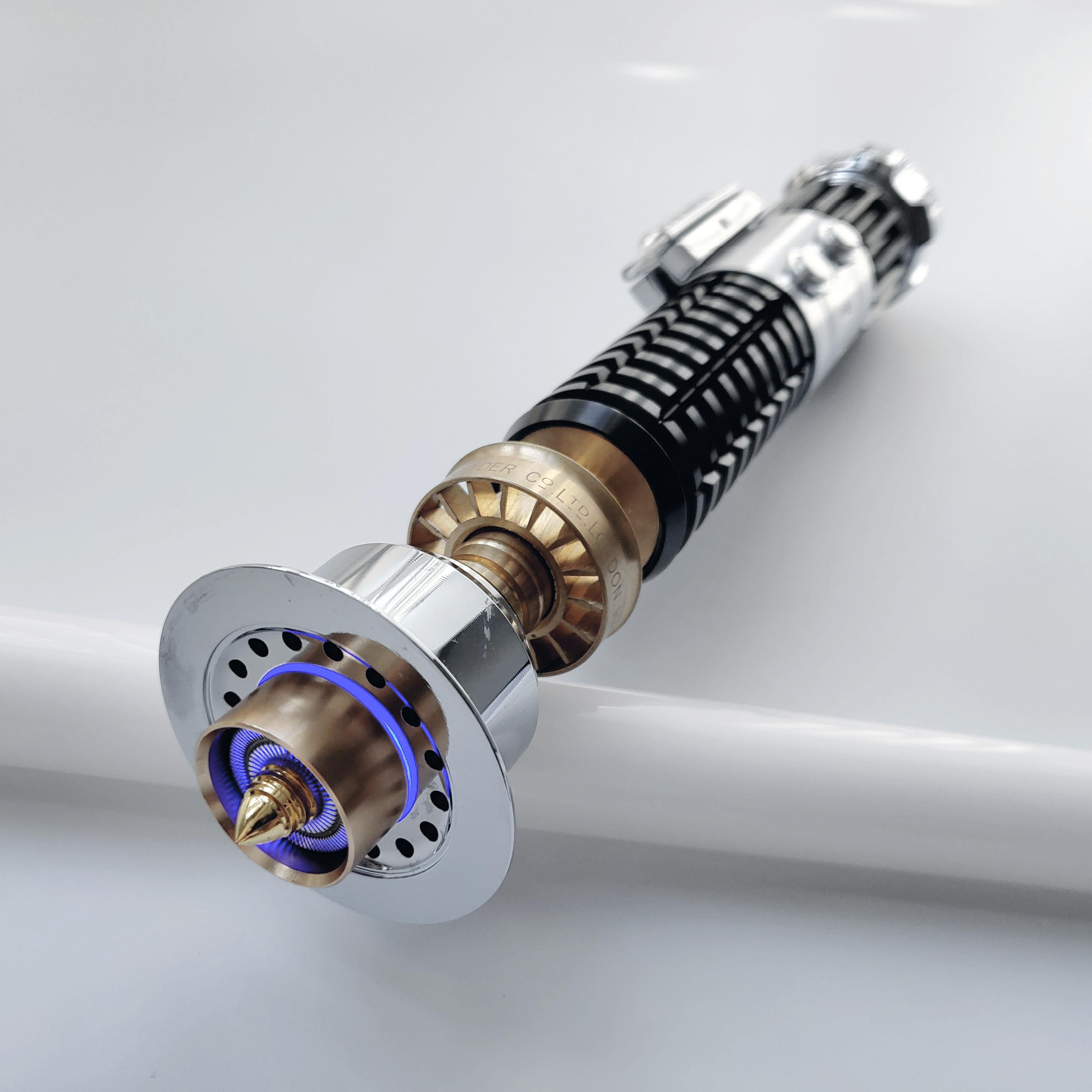 LGT poignée en métal Obi Wan collection base lit Skywalker sabre laser lourd duel avec verrouillage blaster son couleur changeante lumière