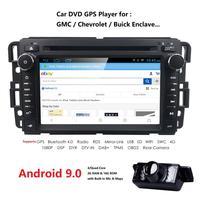 7 Inch 2 Din android 9.0 IPS Car DVD Player for GMC Yukon Denali Acadia Savana Sierra Chevrolet Express Traverse Equinox Mirror