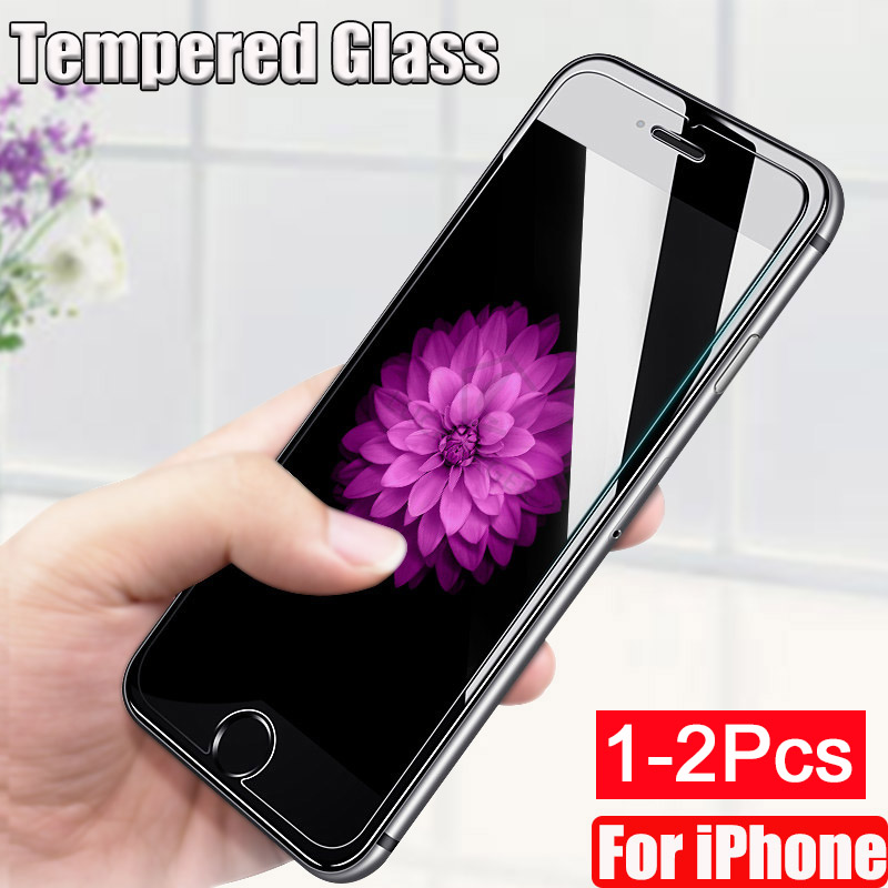 1-2 PCS Tempered Glass For <font><b>iPhone</b></font> 11 Pro Max <font><b>XS</b></font> Screen Protector For <font><b>iPhone</b></font> <font><b>X</b></font> <font><b>XS</b></font> XR 7 8 6 6S Plus Protective Glass <font><b>Film</b></font> safety image