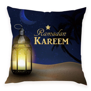 Image 4 - Ramadan Decorations Kareem Party Decorative Islam Decor Eid Decoration Throw Pillow Case Classic Mubarak Ramadan Eid  Cojines
