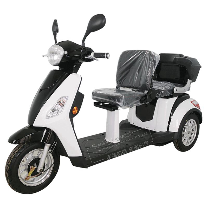 Disabled Individuals Elder Adult Bycicle Tricycle Motorcycle Three Wheel Moto Motor Bike Electric Mobility Scooter With 2 Seats