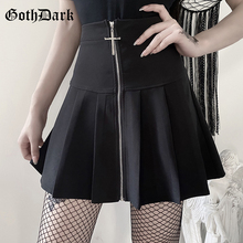 Women Skirts Emo Punk Harajuku Goth Egirl Grunge Pleated Aesthetic Chic Bodycon Vintage