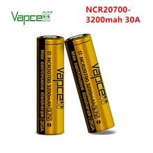 Vapcell – batterie lithium-ion 20700 mah, 30a, rechargeable, mod, pour lampe de poche, livraison gratuite, NCR20700A