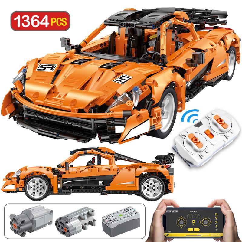 1364 pces criador app controle remoto esportes veículo blocos de construção cidade técnica carro de corrida rc/não-rc moc tijolos brinquedos para crianças