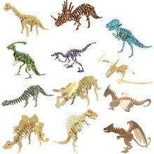 Diy динозавр цветной лазерный пазл 3d Трехмерная деревянная