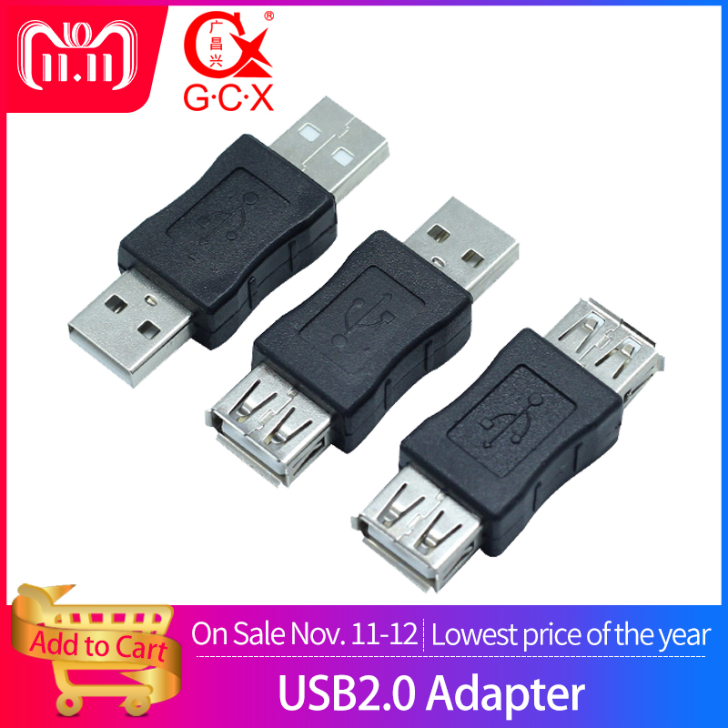 USB Female To Female Socket USB2.0 Male To Female Connector Extension Charger Adapter 1pcs