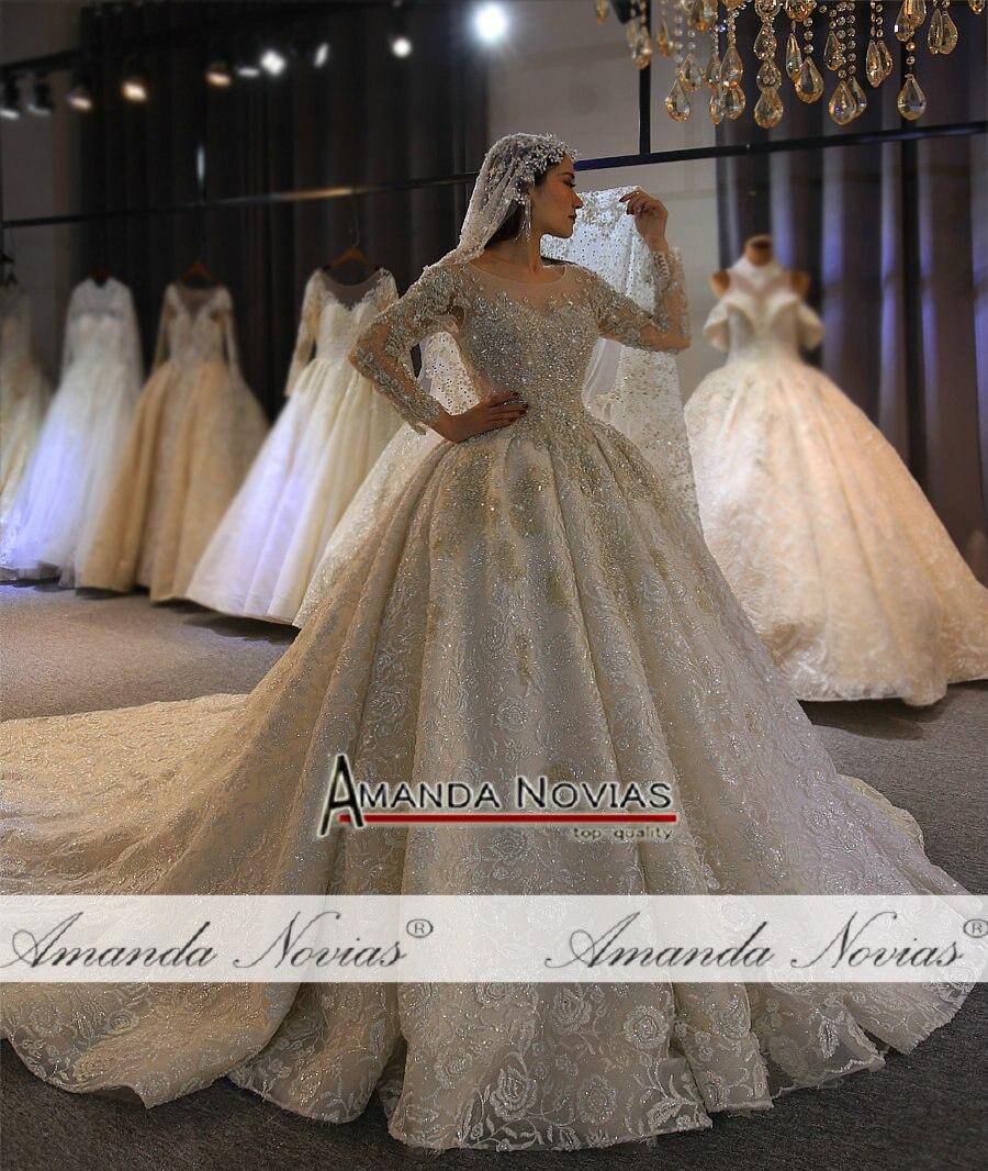 Image 2 - Платье для свадьбы Amanda Novias, роскошный дизайн, с длинным рукавом, 2020Свадебные платья    АлиЭкспресс