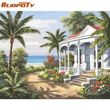 RUOPOTY Frame Picture Diy Painting By Numbers Landscape Modern Wall Art Picture Home Decoration Handpainted Canvas By Number Art