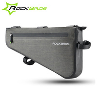 Rockbros 방수 자전거 가방 대용량 mtb 도로 자전거 프레임 가방 삼각형 주머니 방수 코킹 자전거 가방 파니