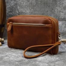 MAHEU grande capacité pochette à main avec bandoulière en cuir véritable grand sac à main sac de rangement maquillage sac de lavage peau réelle