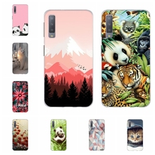 For Samsung Galaxy A3 A7 2018 Case TPU For Samsung Galaxy J1 2016 Cover Flamingo Patterned For Samsung J2 Core J2 Prime Shell все цены