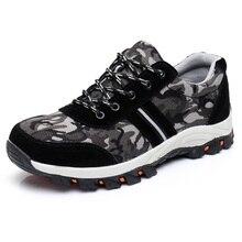 Schwarz Arbeiten Schuhe Mit Stahlkappe Bau Schuhe Reflektierende Sicherheit Stiefel