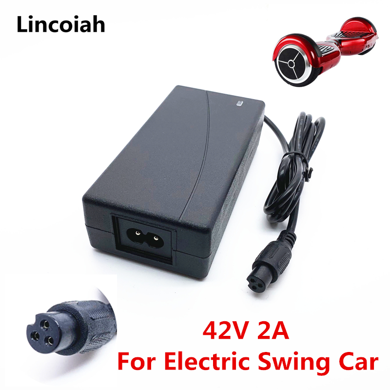 1pcs 42V 2A Universal Battery Charger power supply for Hoverboard Smart Balance Wheel 36v electric power scooter Adapter Charger
