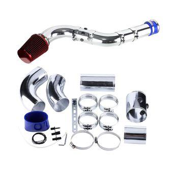 1 zestaw Universal Car 76mm aluminium uniwersalny samochód filtr wlotu zimnego powietrza System rura wąż ze stopu aluminium zestaw rur tanie i dobre opinie Aluminum alloy 26 x 25 x 17 cm