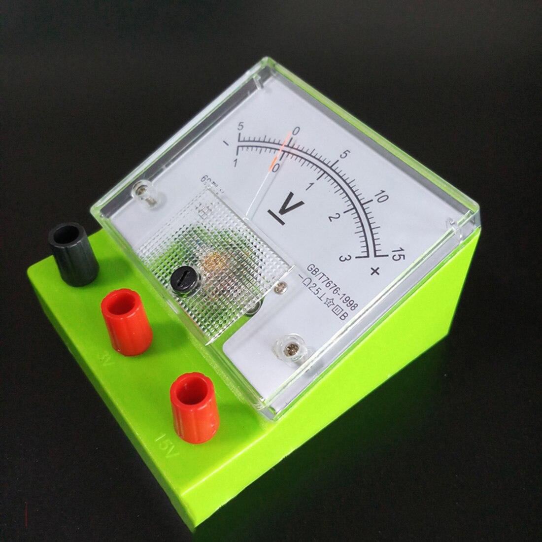 DIY амперметр вольтметр вольт метр физическая электрические цепи эксперимент оборудование для школы