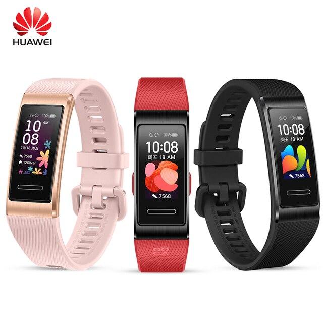 "HUAWEI Band 4 Pro 0.95"" Full AMOLED Touchscreen Smart Band Heart Rate Health Monitor GPS Sports Fitness Bracelet Women Men"