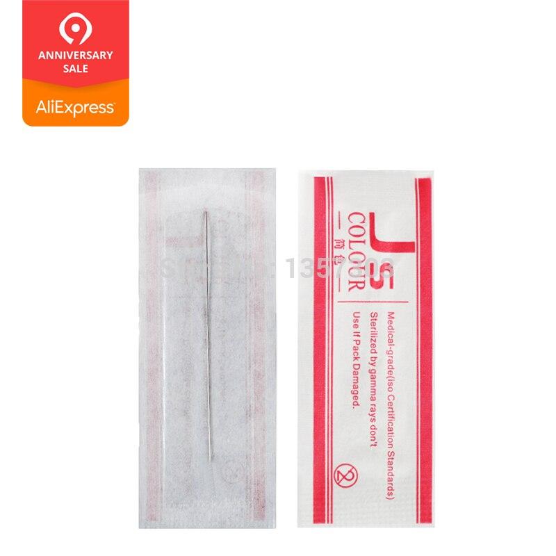 1R Makeup Eyebrow Needles Sterilized 100pcs Permanent Makeup Needles Tattoo Needle Free Shipping