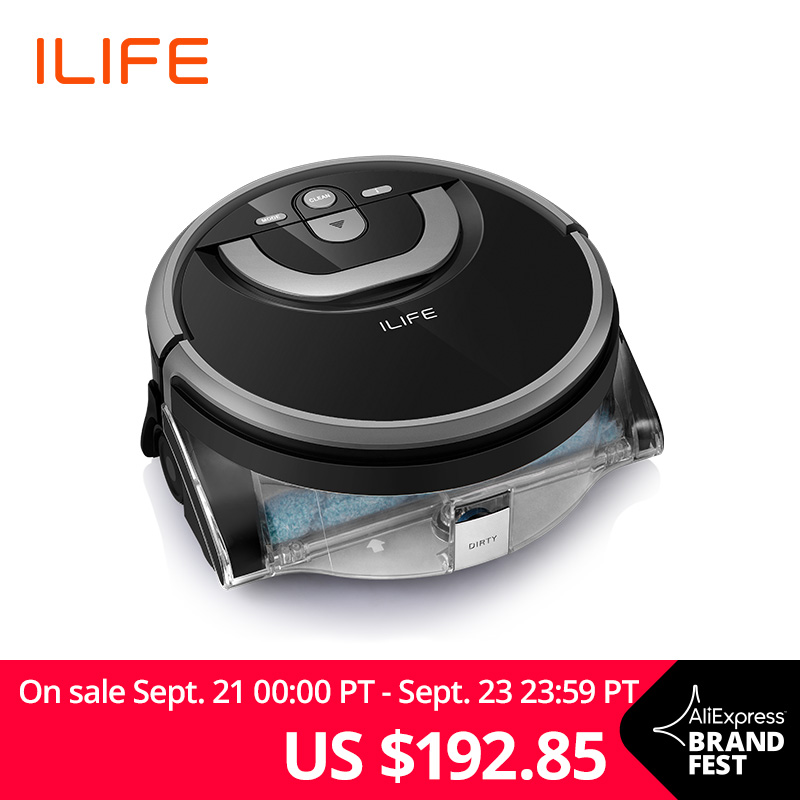 ILIFE New W400 Floor Washing Robot Shinebot Navigation Large Water Tank Kitchen Cleaning Planned Cleaning Route deimos vindicator laser destroyer