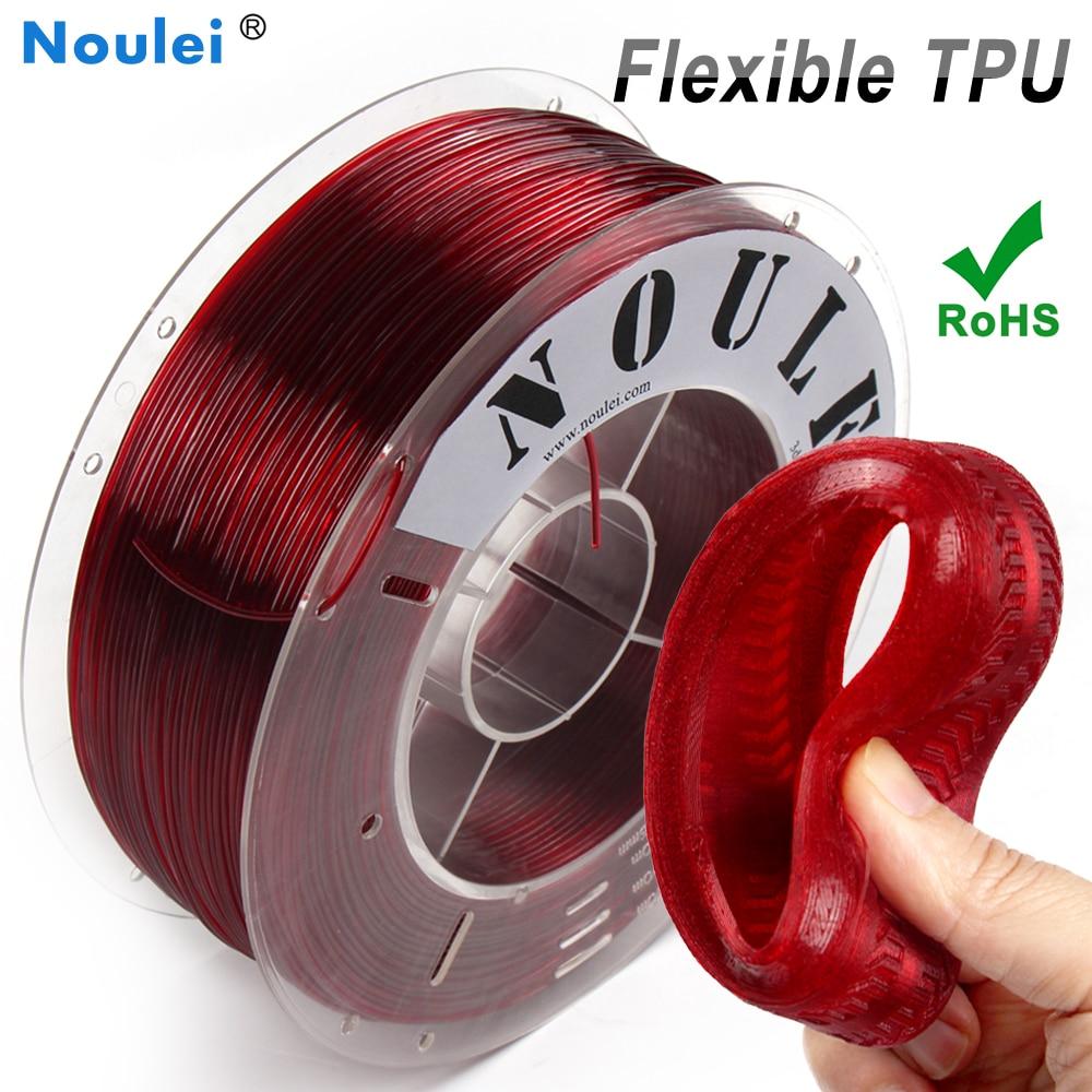 3D การพิมพ์ Filament 1 KG TPU ยืดหยุ่น Filament TPU filament พลาสติกสำหรับ 3D เครื่องพิมพ์ 1.75 มม.วัสดุการพิมพ์สีเขียวสีแด...
