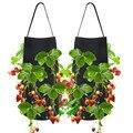 Садовый растительный мешок для выращивания овощей  подвешивающий цветочный горшок  кашпо для помидоры в форме клубники  Чили  перца для выр...