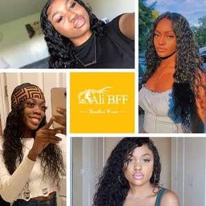 Image 5 - עלי BFF שיער ברזילאי מים גל חבילות עם סגירת רמי שיער תחרה פרונטאלית עם עסקת חבילות שיער טבעי חבילות עם פרונטאלית