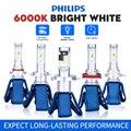 Светодиодные лампы для автомобильных фар Philips, H4, H7, H11, H8, H16, HB3, HB4, HIR2 9012, 6000K, противотуманные фары, светодиодные лампы для автомобиля, диодные ...