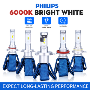 Image 1 - Philips H4 LED H7 H11 H8 H16 HB3 HB4 HIR2 9012 LED Car Headlight Bulbs 6000K Fog Lights luces led para auto diode lamps for cars