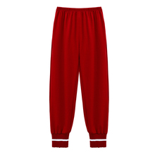 Christmas Red Long Pants Sleep Wear for Women Solid Pajama Pockets Lounge Clothes Girl New Fashion Style