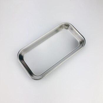цена 1Pcs  Stainless Steel Medical Surgical Dental Dish Lab Tray Instrument Storage Tools Eco-friendly Convenient онлайн в 2017 году