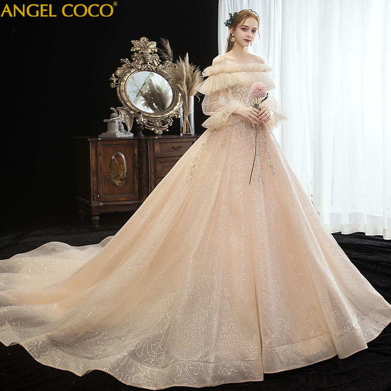 Us 238 4 20 Off Materninty Dress Pregnancy Maternity Long Sleeve Tulle Pregnant Gown Princess Wedding Robe De Mariee In