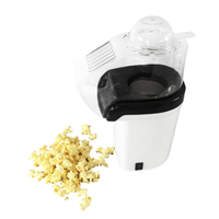 Popcorn Machine Hot Air Popcorn Popper + Popcorn Maker wtih Measuring Cup to Measure Popcorn Kernels + Melt Butter   White(EU Pl|Popcorn Makers|   -