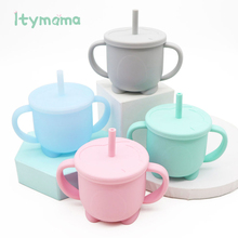 Baby Feeding Cups Baby Learning Cup Drinking Silicone Sippy Cups Mug With Handle For Toddlers Kids Silicone Sippy Cup Lids Solid