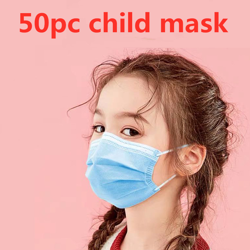 Profession Child Kids Boy Girl Mask 50Pcs/Pack 3-Ply PM2.5 N95 Nonwoven Breathable Children Face Mask Complete Certification