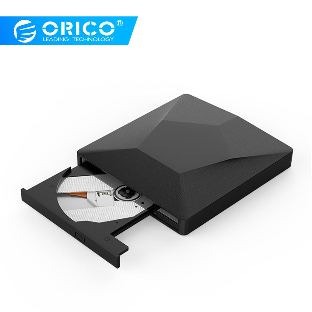 ORICO External USB 3.0 Optical Driver CD/DVD-ROM Combo DVD RW ROM Burner For Desktop Laptop Windows Mac OS USB CD Drive